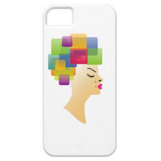 Peinado abstracto funda para iPhone SE/5/5s