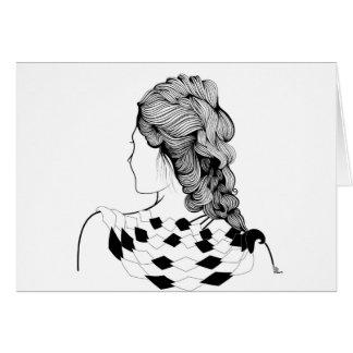 Peinado lindo del chica tarjeta de felicitación