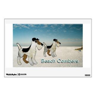 Peinadores de la playa - publicidad de ventana del