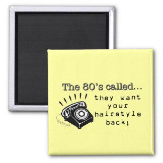 peinados de los años 80 iman de frigorífico