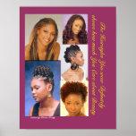 Peinados negros poster