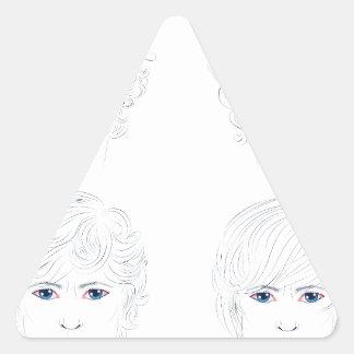 Peinados rizados masculinos pegatina triangular