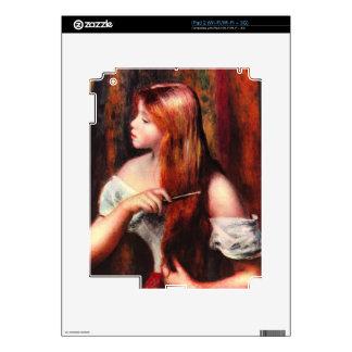 Peinar al chica de Pedro Renoir Calcomanías Para El iPad 2