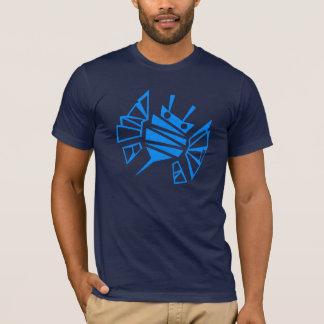 Peine azul de la abeja de Persephone Playera