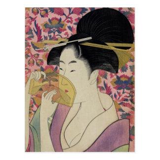 Peine de Kushi por Kitagawa Utamaro Postal