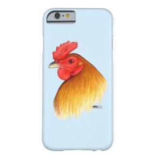 Peine del guisante del macho del gallo de pelea funda para iPhone 6 barely there