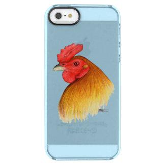 Peine del guisante del macho del gallo de pelea funda clearly™ deflector para iPhone 5 de uncommon