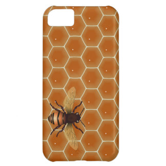 Peine y abeja de la miel