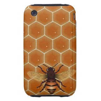 Peine y abeja de la miel tough iPhone 3 fundas
