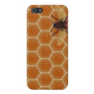 Peine y abeja de la miel iPhone 5 carcasas