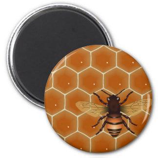 Peine y abeja de la miel imán para frigorifico