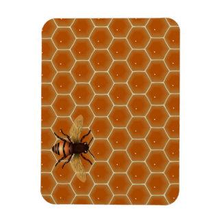 Peine y abeja de la miel imanes de vinilo
