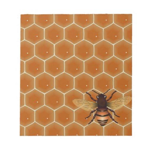 Peine y abeja de la miel libreta para notas