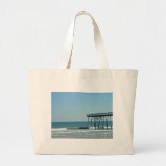 Peir and Beach Jumbo Tote Bag