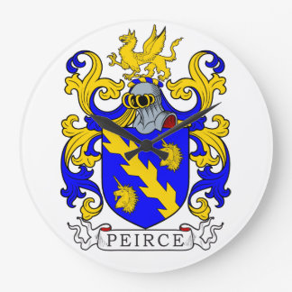 Peirce Coat of Arms III Wallclock