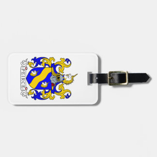 Peirce Coat of Arms Luggage Tag