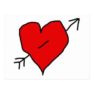 Peirced Heart Postcard