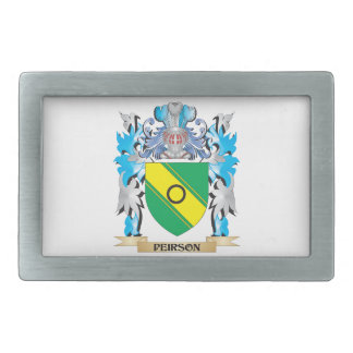 Peirson Coat of Arms - Family Crest Rectangular Belt Buckle