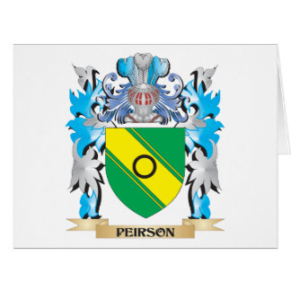 Peirson Coat of Arms - Family Crest Large Greeting Card