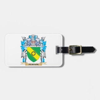 Peirson Coat of Arms - Family Crest Bag Tags