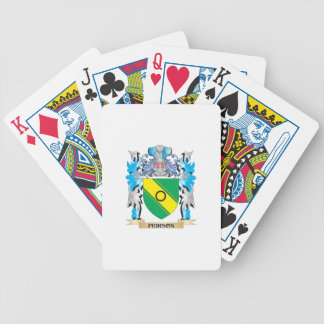 Peirson Coat of Arms - Family Crest Bicycle Playing Cards