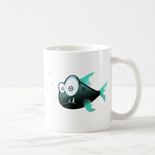 Peixe Engraçado Taza De Café