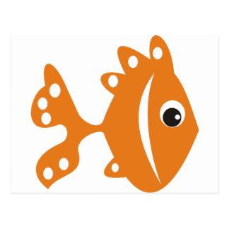 peixe laranj postcard