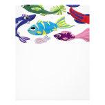 peixes lindinhos papeis de carta personalizados