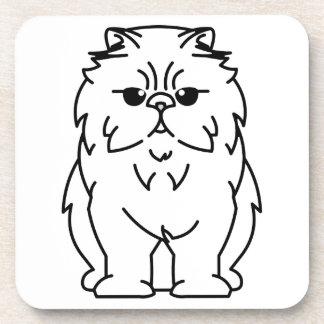 Peke-Faced Cat Cartoon Drink Coasters