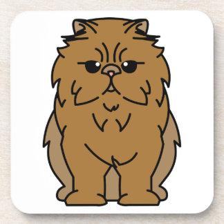 Peke-Faced Cat Cartoon Coasters