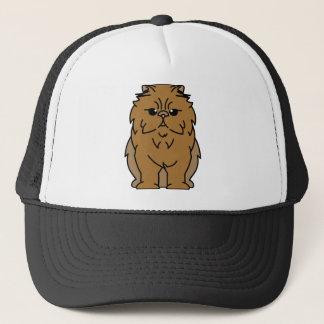 Peke-Faced Cat Cartoon Trucker Hat