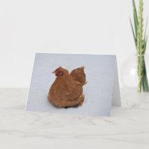 Pekin Chicken in the Snow Card