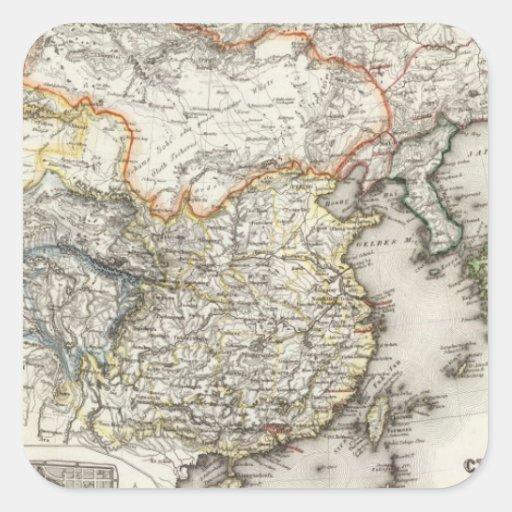 Pekín, China Calcomanías Cuadradass