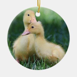 Pekin Ducklings Ceramic Ornament