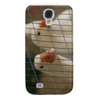Pekin ducks in cage picture galaxy s4 case