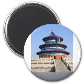 Pekín el Templo del Cielo Imán Redondo 5 Cm