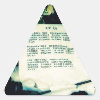 Pekín Pekín Calcomanía Trianguloada