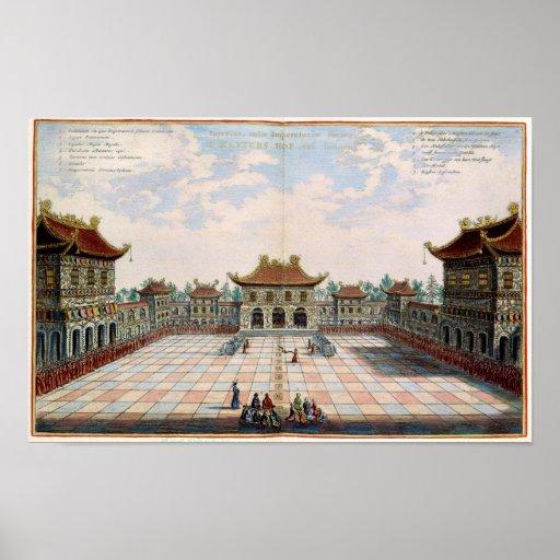 PEKING CHINA by Nieuhoff Poster