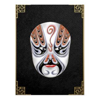 Peking Opera Face-paint Masks - Chong Houhu Postcard