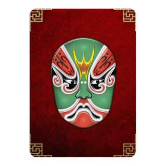 Peking Opera Face-paint Masks - Zheng Lun 5x7 Paper Invitation Card