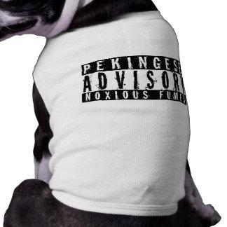 Pekingese Advisory Noxious Fumes Dog Tee Shirt