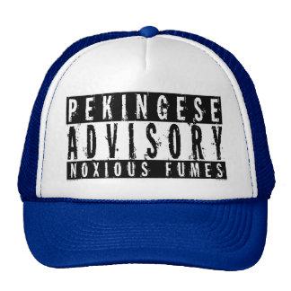 Pekingese Advisory Noxious Fumes Hats