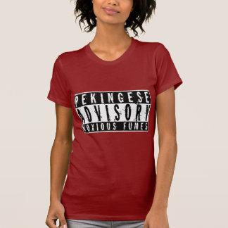Pekingese Advisory Noxious Fumes T-shirts