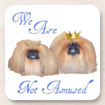 Pekingese Are Not Amused Drink Coasters