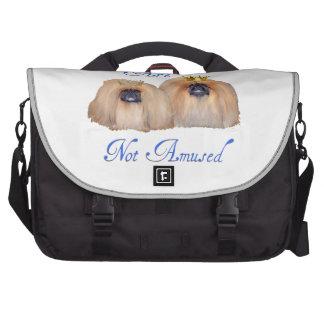 Pekingese Are Not Amused Computer Bag