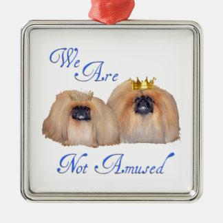 Pekingese Are Not Amused Metal Ornament