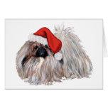 Pekingese at Christmastime Greeting Cards