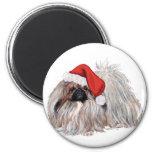 Pekingese at Christmastime Magnets