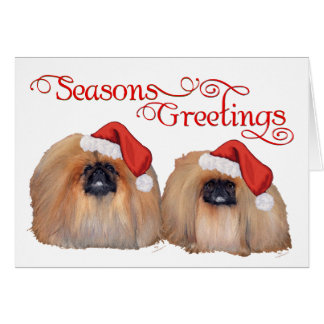 Pekingese Celebrate Christmas Cards