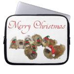 Pekingese Celebrate Christmas Laptop Sleeve